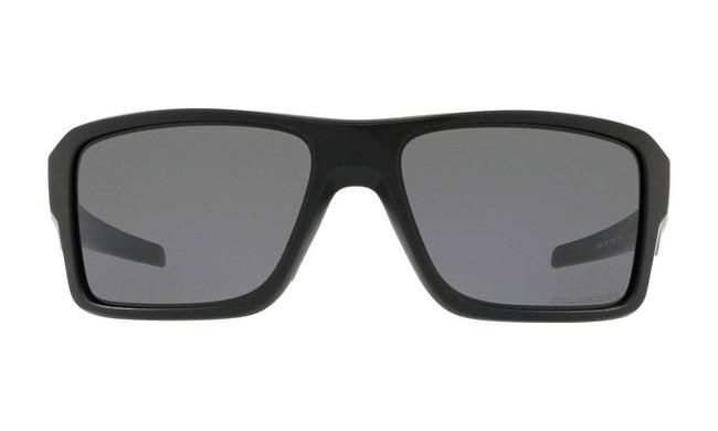 Oakley SI Double Edge Matte Black Sunglasses with Grey Polarized Lenses OO9380-1066 888392279484