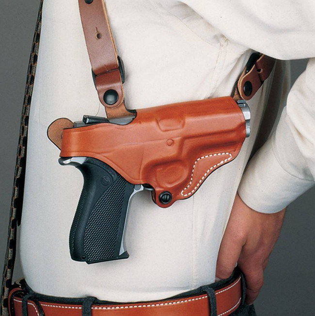 DeSantis Gunhide New York Undercover Leather Shoulder Rig with Double Pouch 11D