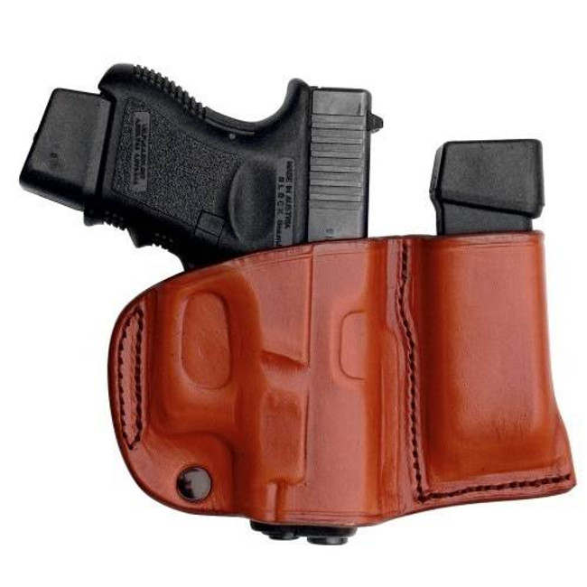 Tagua Gunleather Leather Belt Slide Holster with Magazine Carrier BSHM