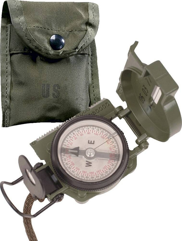 5ive Star Gear G.I. Lensatic Compass with Pouch
