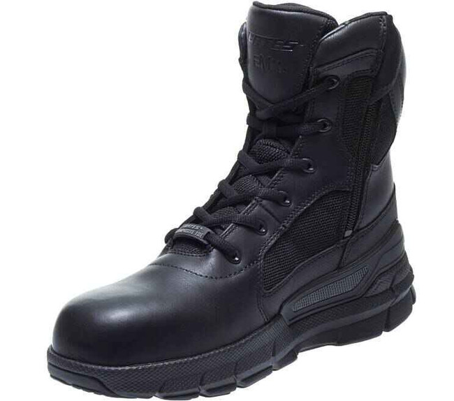 Bates Black Leather Charge Composite Toe Side Zip Boot E07168