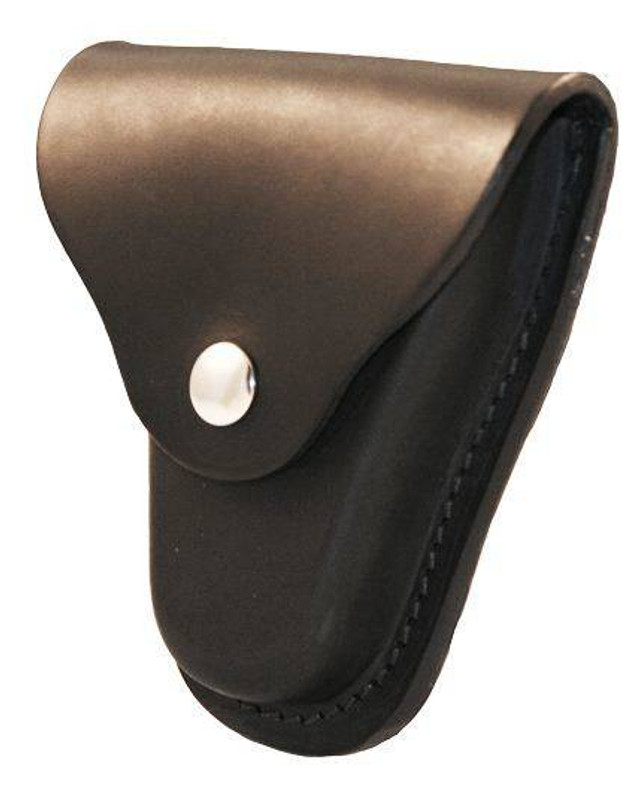 Boston Leather Economy Handcuff Case with Snap Closure and Slotted Back 5516