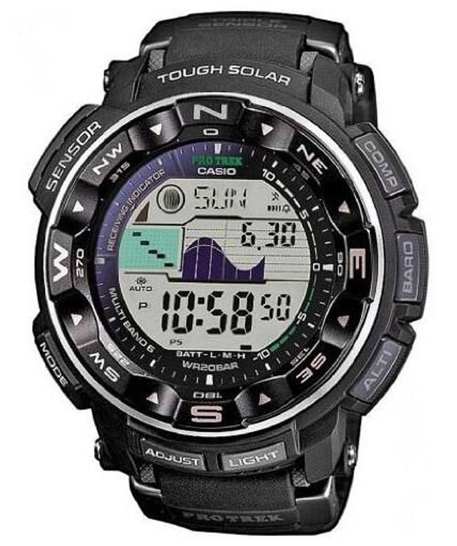 Casio PRW2500-1A Pro Trek Dual LCD Triple Sensor Watch PRW2500-1A 079767463953