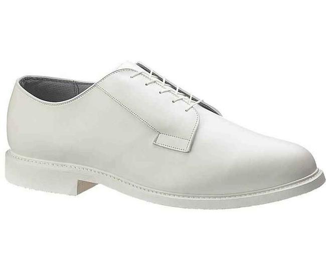 Bates Footwear Lites White Leather Mens Oxford - Navy Dress Uniform E00131