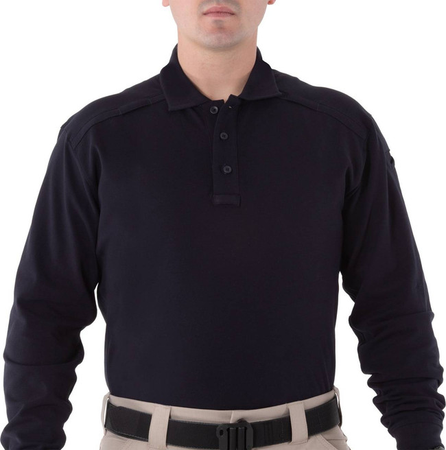 First Tactical Mens Cotton Long Sleeve Polo 111502