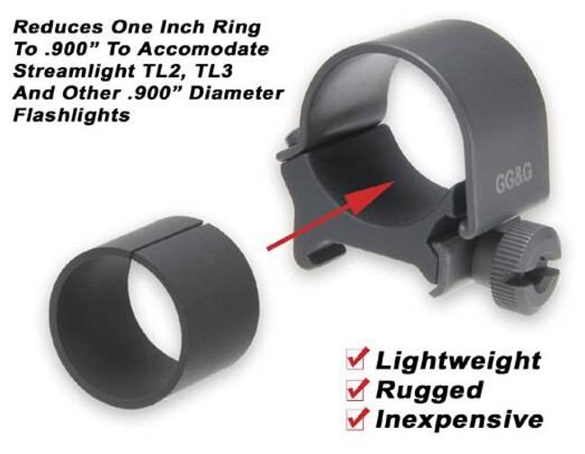 GGandG .900 Flashlight Mounting Ring Insert 1248-GG 813157001789