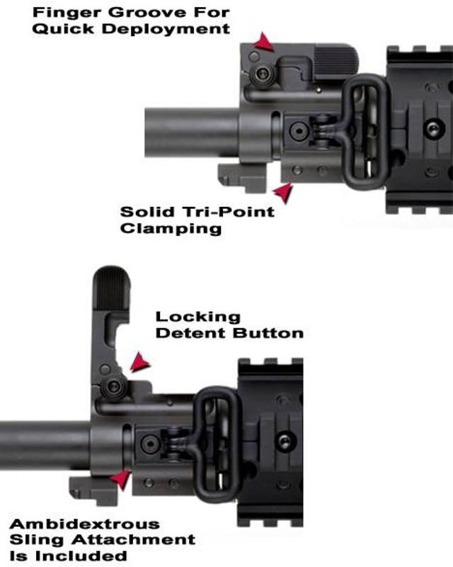 GGandG Bolt On Flip Up Front Sight Gas Block System 1297 813157001260
