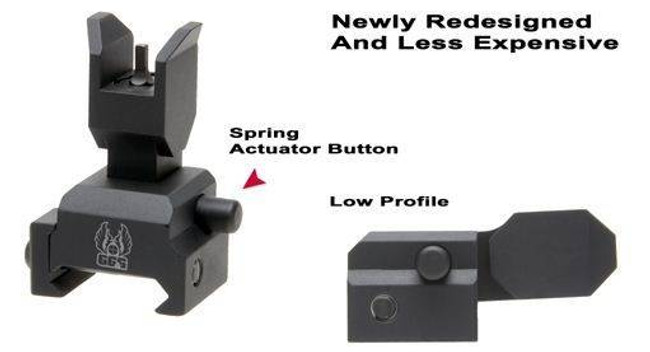 GGandG Spring Actuated Flip Up Front Sight For Tactical Forearms 1393 813157002311
