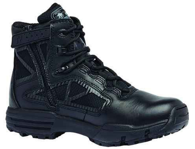 Tactical Research Mens Black Chrome Series 6 Hot Weather Side Zip Boot TR916Z