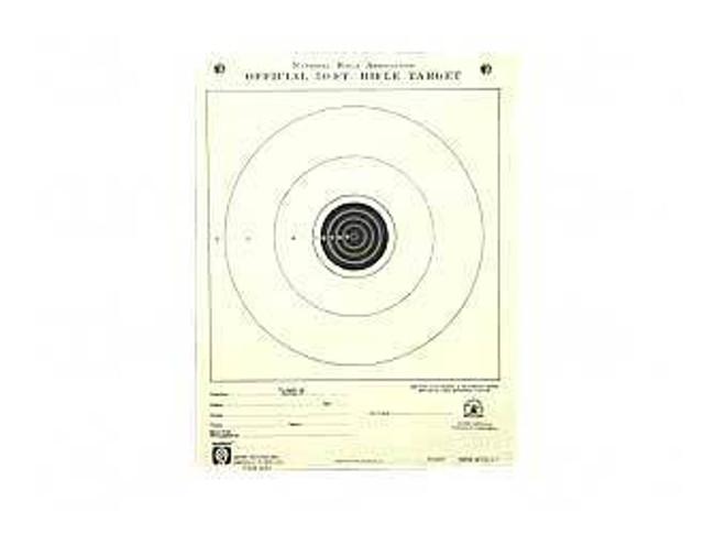 Hoppes 9 Rifle NRA TQ-1/1 Target 50 Ft Jr Rifle, Single Bulls Eye 20/Pack A1 A1 26285511598