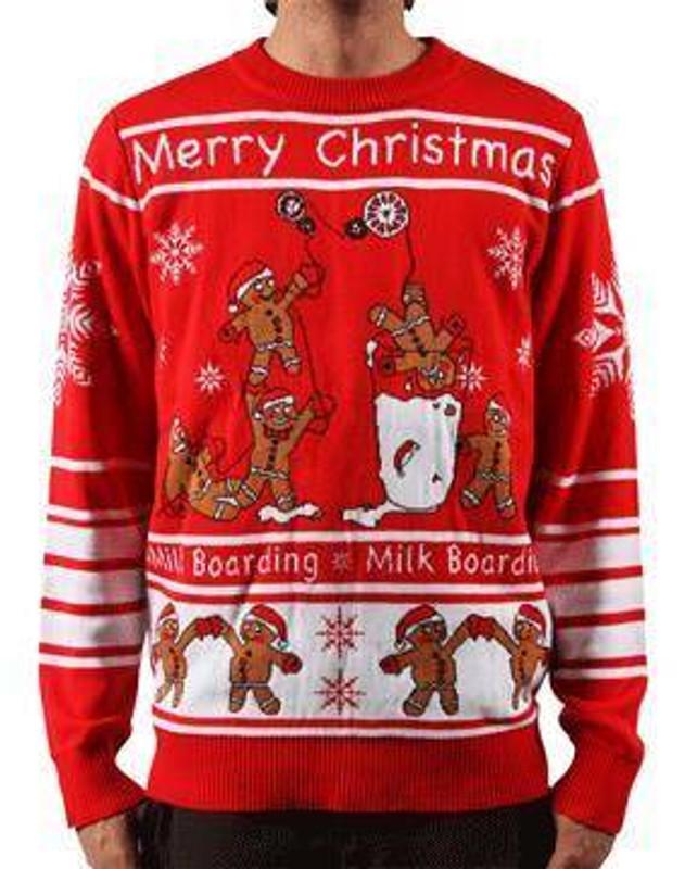 LA Police Gear Gingerbread Men Christmas Sweater