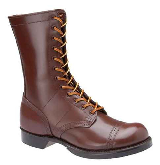Corcoran Mens 10 Historic Leather Military Brown Jump Boot 1510-CO