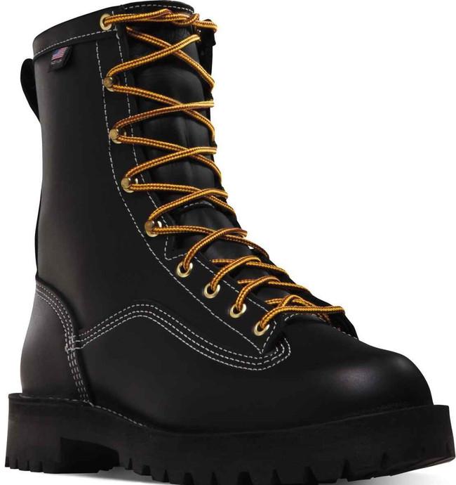 Danner Mens Super Rain Forest 8 Black Work Boot 11700 11700
