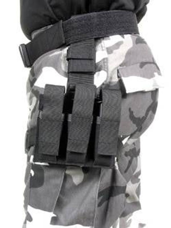 Blackhawk Omega Triple Pistol Mag Pouch BLACK 56PM03BK 648018007569
