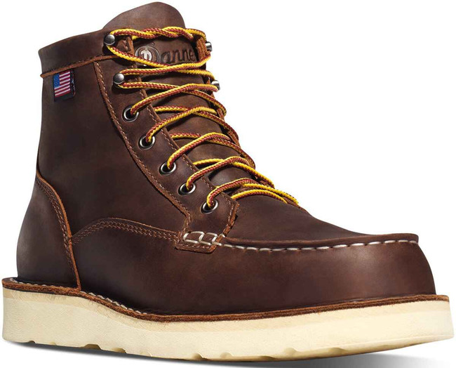 Danner Mens Bull Run Brown MOC Steel Toe 6 Boot 15564 15564