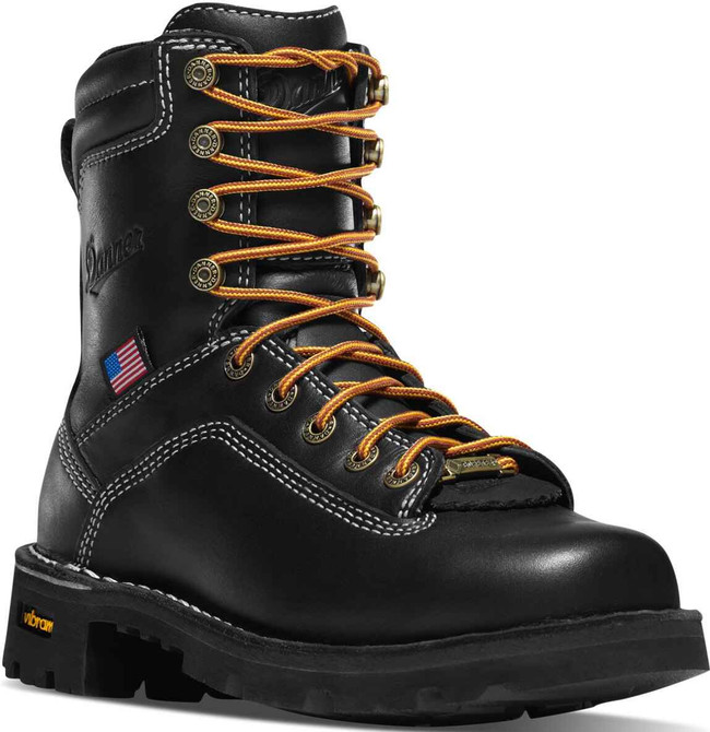 Danner Quarry USA Womens 7 Black Alloy Toe Boot 17325 17325