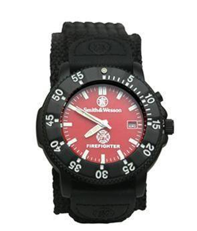 Smith and Wesson Firefighter Watch 455-F 024718145594