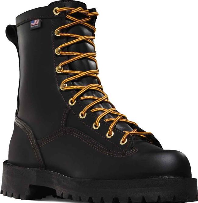 Danner Mens Black Rain Forest 8 Work Boots 14100 14100