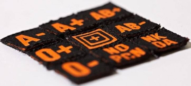 5.11 Tactical Blood Type Patch Kit 17003 17003 844802316743