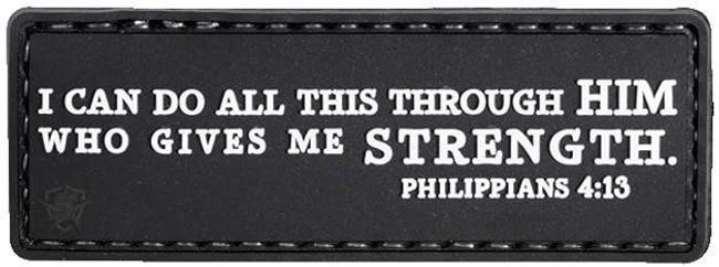 5ive Star Gear Philippians 4:13 Morale Patch