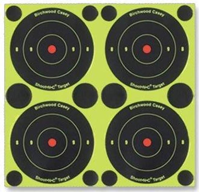 Birchwood Casey Shoot NC Self-Adhesive Targets - 3, 6 and 8 Bulls-Eye Packs - BULLSEYE-34315 BULLSEYE-34315