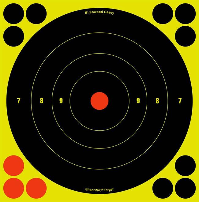 Birchwood Casey Shoot NC Self-Adhesive Targets - 3, 6 and 8 Bulls-Eye Packs - BULLSEYE-34825 BULLSEYE-34825