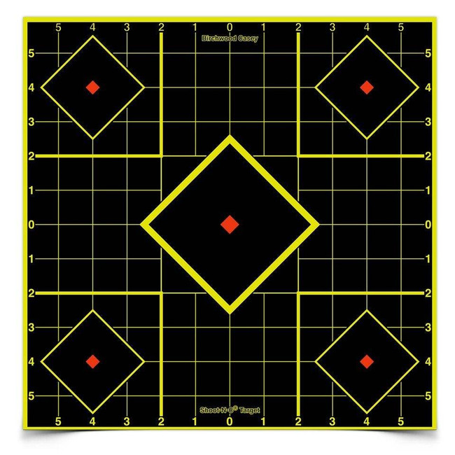 Birchwood Casey Shoot NC Self-Adhesive Targets 8 and 12 Sight-In Packs - SIGHTIN-34205 SIGHTIN-34205