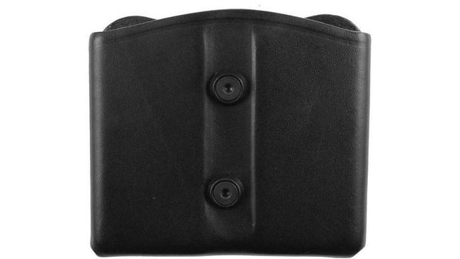 Blackhawk Leather Dual Mag Pouch - Black 420902BK 648018140259