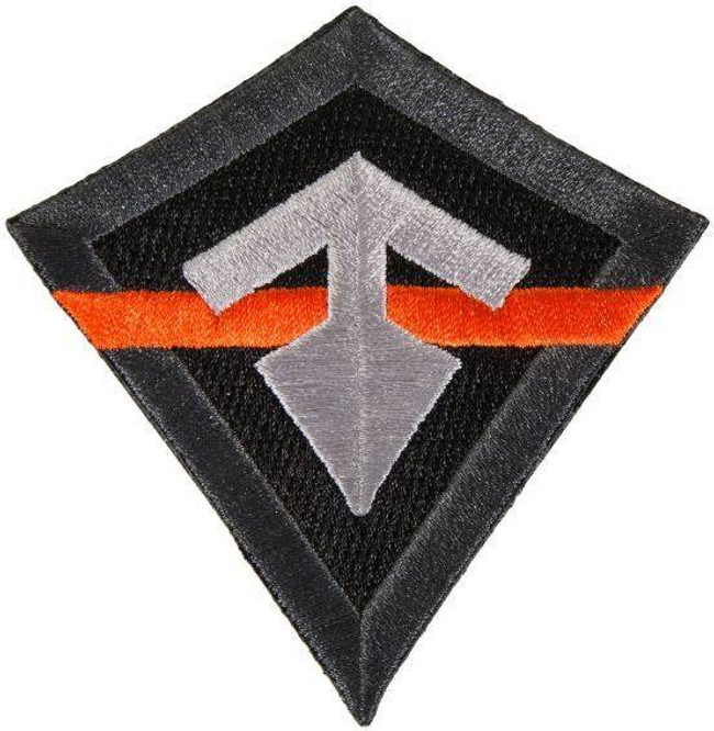 First Tactical Thin Orange Line Logo Patch 195030 689076862813