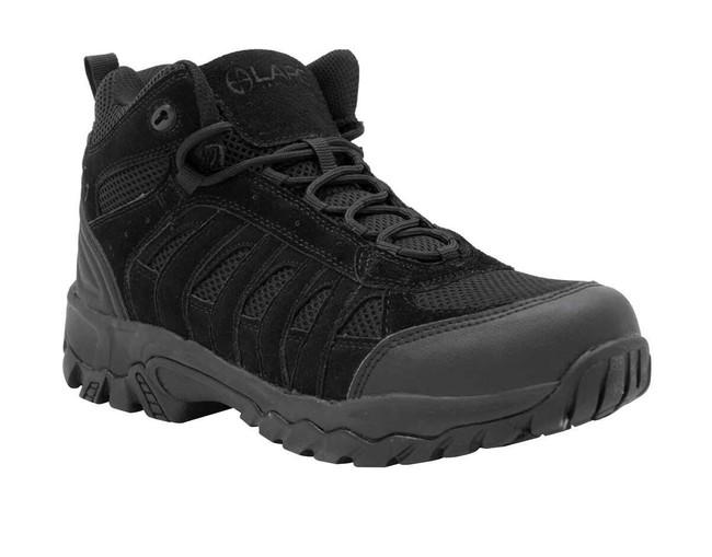 LA Police Gear Atlastm Black Mid Hiker Shoe H002M-BLACK