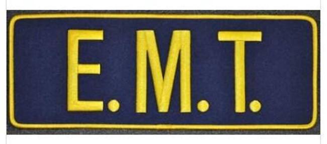 EMT Back Navy/Gold Patch P-EMT-NAVY-GOLD