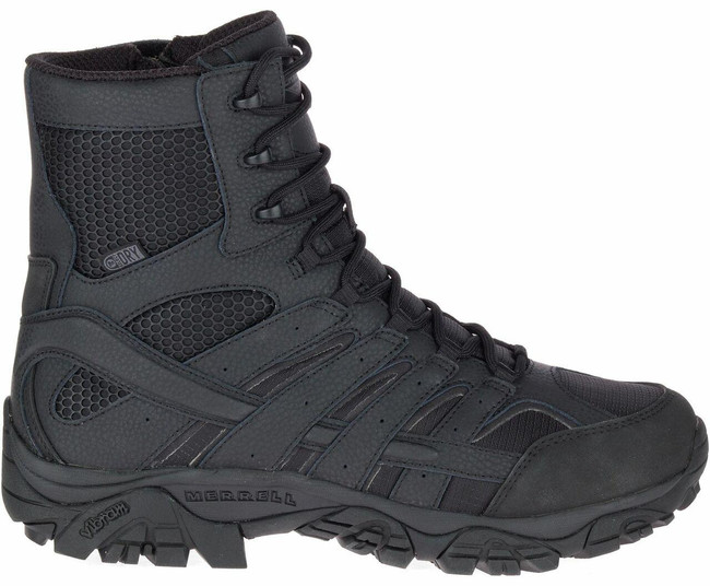 """Merrell Moab 2 8"""" Tactical Waterproof Boot Black right"""
