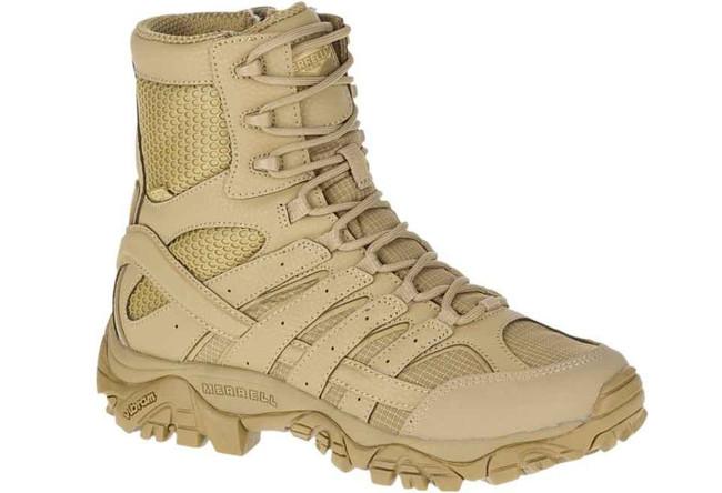Merrell Womens MOAB 2 8 Tactical WP Boot - Coyote Waterproof Boot J17722