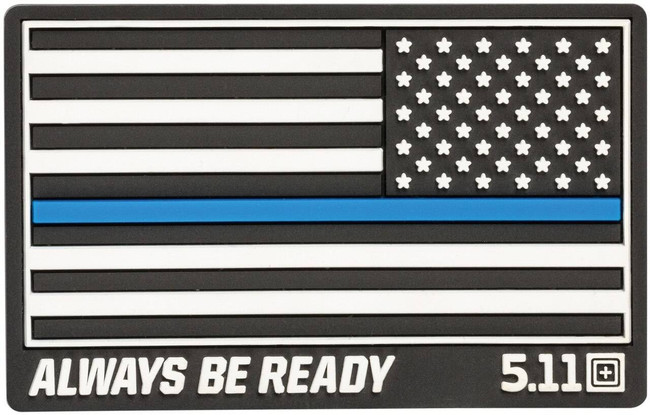 5.11 Tactical Thin Blue Line Reversed Flag PVC Patch 81297 81297 888579190373