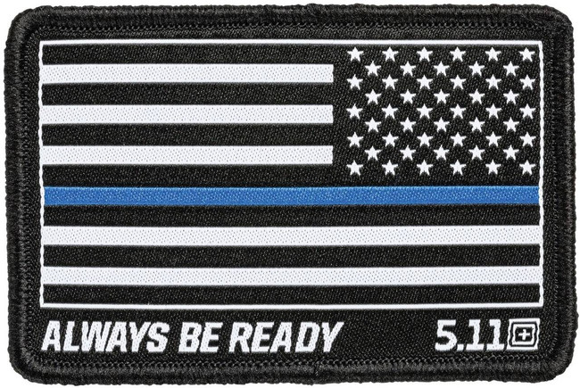 5.11 Tactical Thin Blue Line Reversed Flag Woven Patch 81299 81299 888579190397