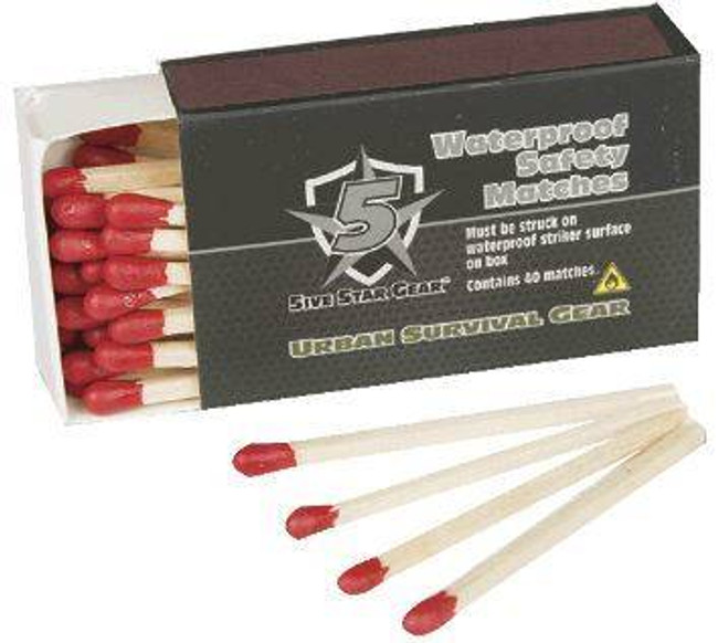 5ive Star Gear Waterproof Matches 4 Pack 4584000 690104431123