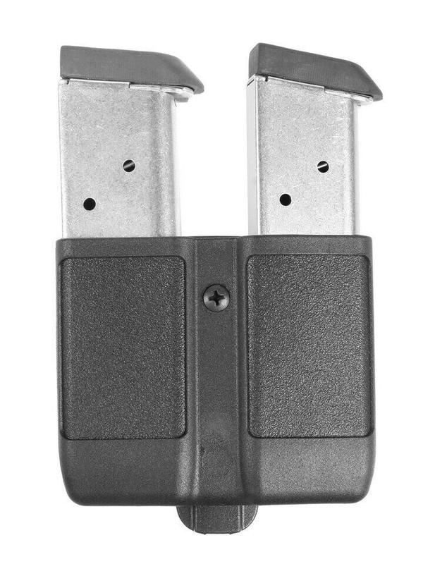 Blackhawk Double Mag Case Single Stack Plain Finish