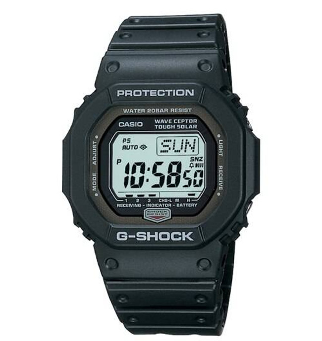 Casio GW5600J-1 Black Digital Multi-Band 2 G-Shock Atomic Solar Watch GW5600J-1 079767867072