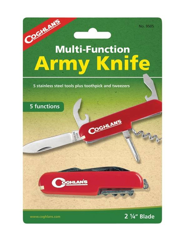 Coghlans Five Function Army Knife - CLOSEOUT COG-9505 056389095052