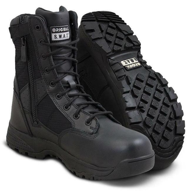"Original S.W.A.T. Metro 9"" Black Waterproof Side-Zip Safety Boot"