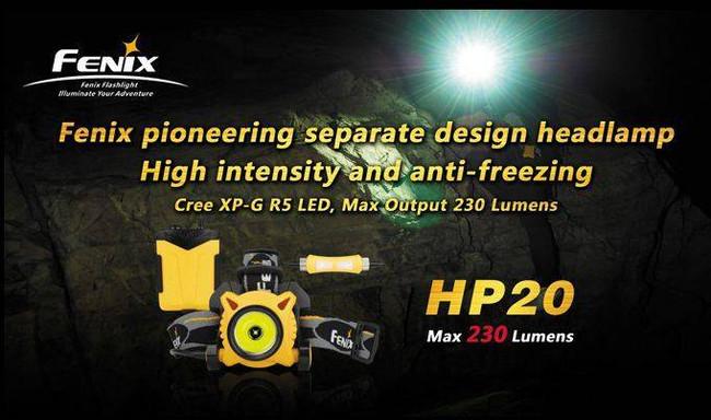 Fenix Lighting HP20 High Intensity Headlamp 230 Lumens HP20 6942870300856