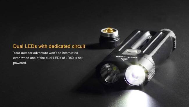 Fenix Lighting LD50 1,800 Lumen Dual LED Flashlight LD50 6942870302867