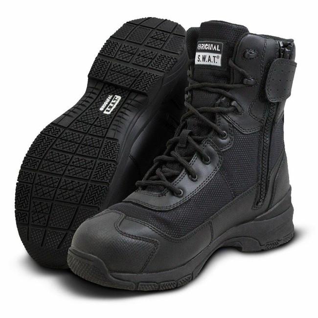 """Original S.W.A.T. H.A.W.K. 9"""" Black Waterproof Side-Zip EN Boot"""