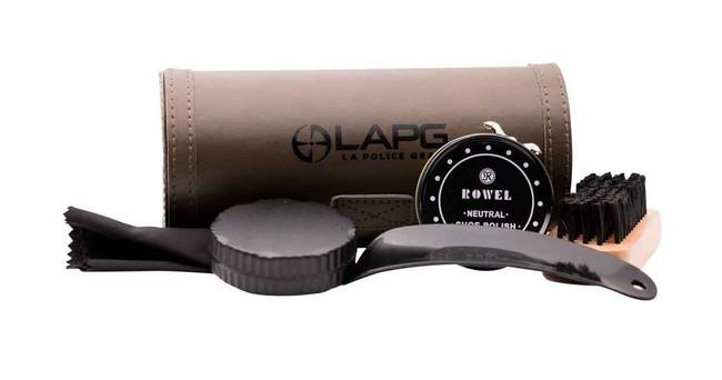LA Police Gear Leather Shoe Shine Kit LAPG-SHOE-SHINE-KIT