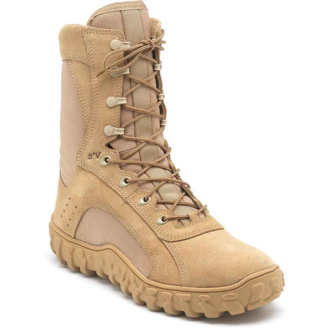 Rocky S2V Mens Desert Tan Steel Toe Boots - MADE IN USA 6101