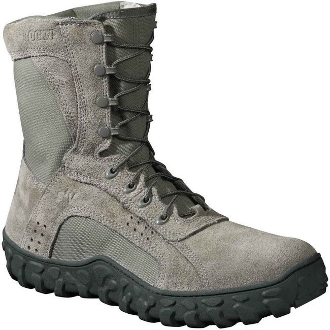 Rocky S2V Mens Sage Steel Toe Duty Work Boot 6108