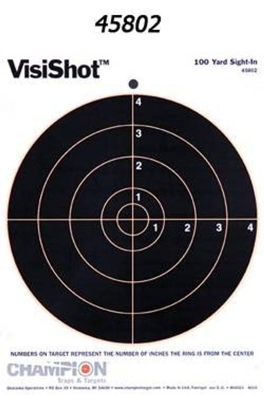 Champion Targets VisiShot Paper Targets VISISHOT