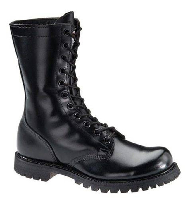 Corcoran Mens 10 Leather Plain Toe Combat Boot with Lug Outsole 978