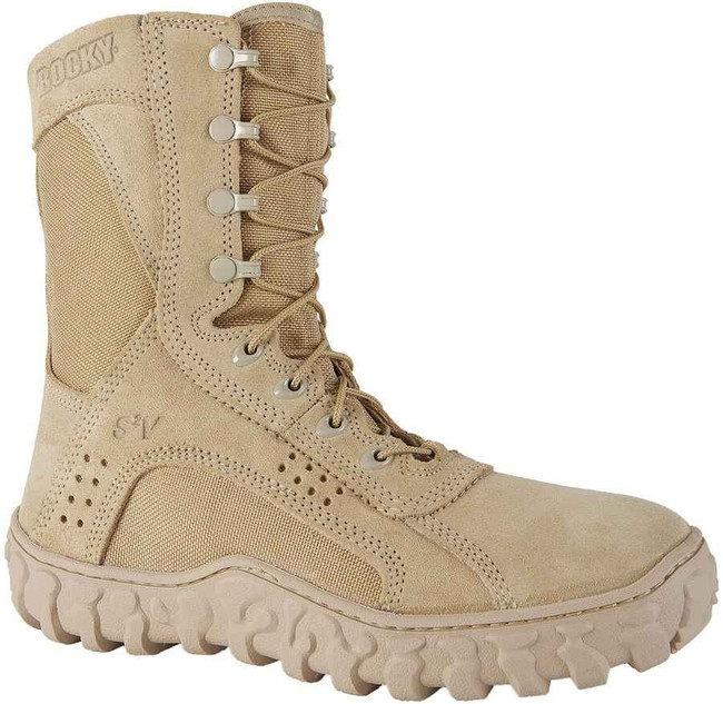 Rocky S2V Tactical Military Desert Tan Boot 0105-RO