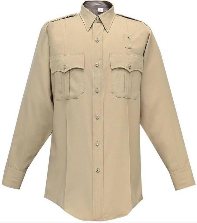 Flying Cross Justice 75percent Poly/25percent Wool Mens Long Sleeve Shirt 05W84